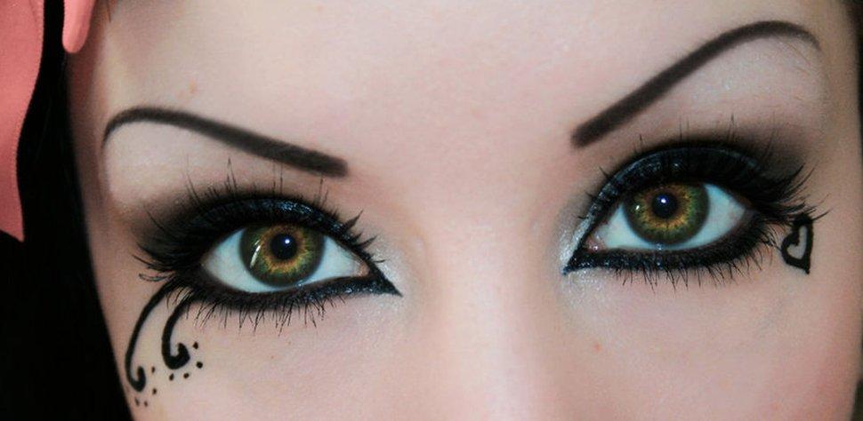 beau maquillage gothique yeux