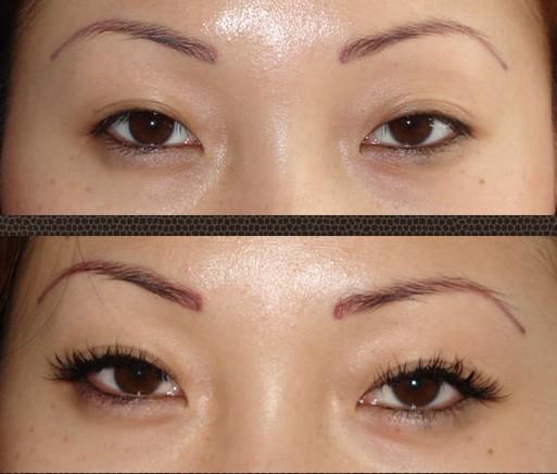 Le maquillage des yeux asiatiques