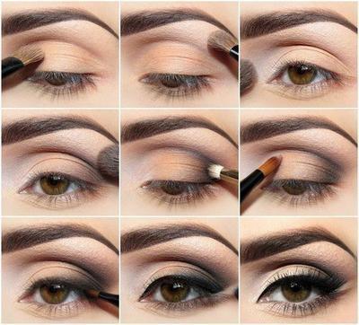 1ad16a2cc43921 modèle maquillage yeux marrons soirée ...