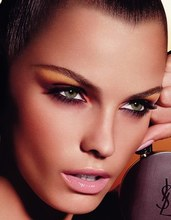 idée maquillage yeux verts brune