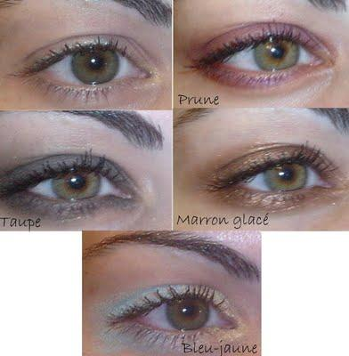 maquillage yeux verts et marrons