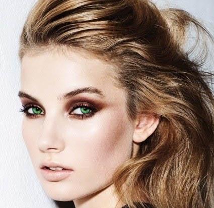 maquillage yeux marrons verts cheveux blonds. Black Bedroom Furniture Sets. Home Design Ideas