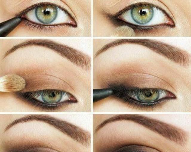 Le maquillage des yeux gris vert