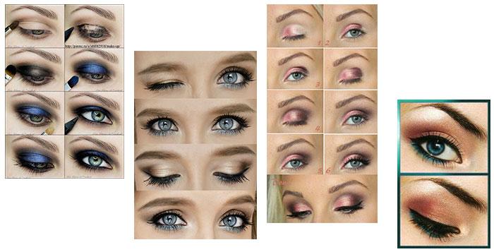 maquillage yeux bleus cheveux gris