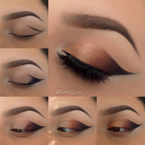 Un maquillage discret pour les yeux marrons