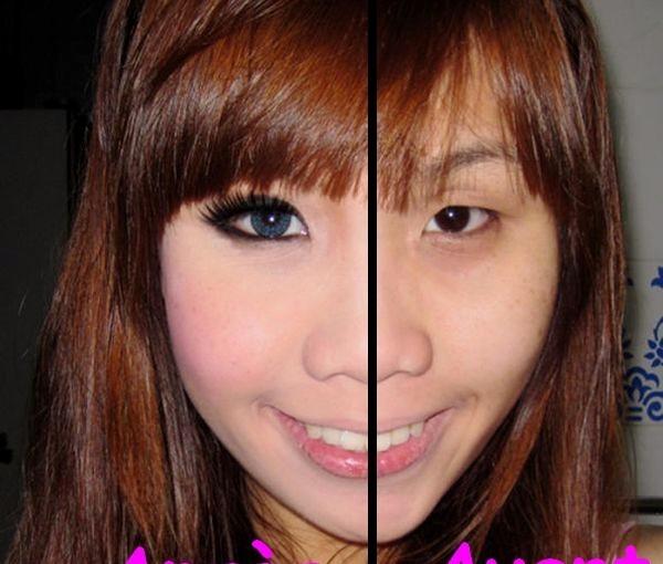 Le maquillage des grands yeux
