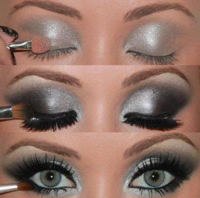 Le maquillage des yeux bleus gris