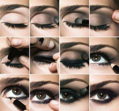 Le maquillage des yeux verts foncés