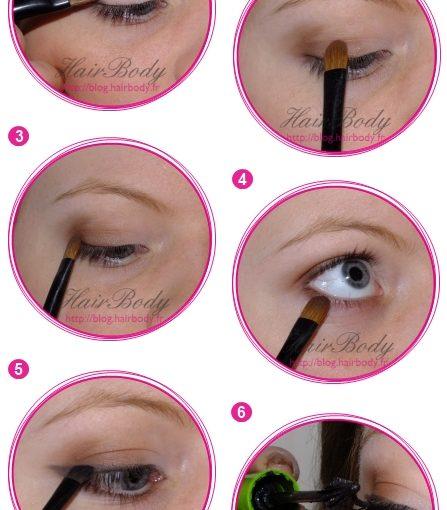Maquillage des yeux léger