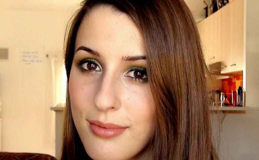 Maquillage des yeux noisette vert