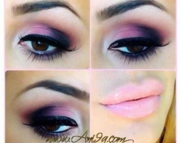 Maquillage des yeux rose